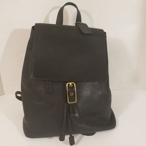Coach Legacy Black Leather Backpack Purse